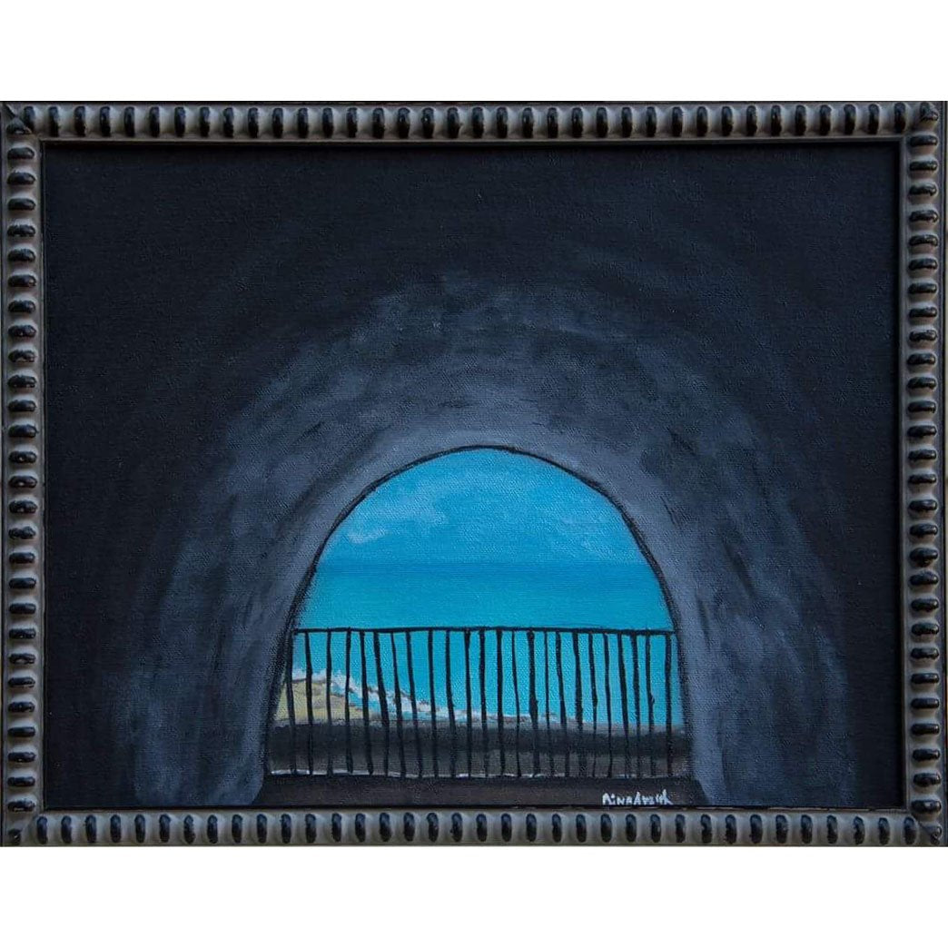 Tunnel to a Haven Original Oil Painting, Framed