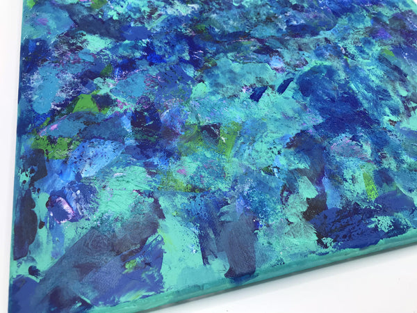 Abstract Acrylic Painting with Grainy Texture, Knife Painting