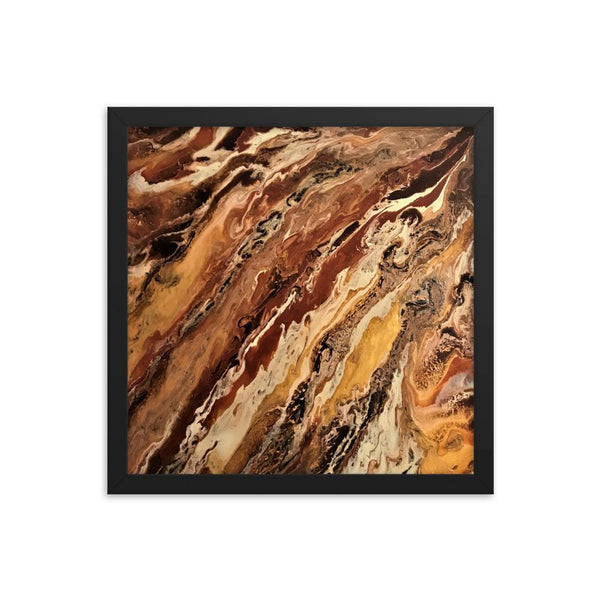 Abstract Jupiter Art Print of Acrylic Pour / Fluid Painting