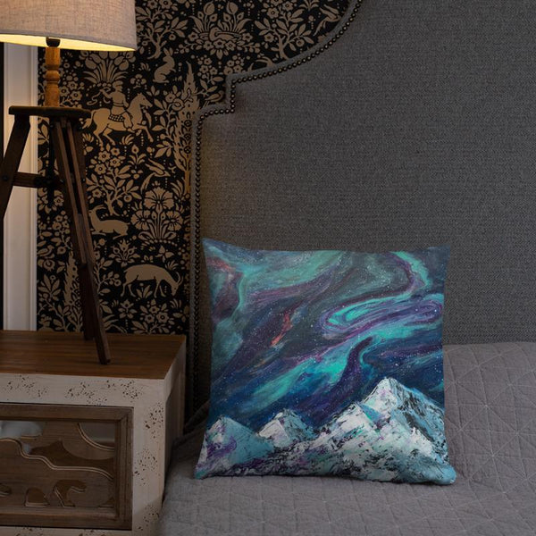 Aurora Decorative Throw Pillow of Northern Lights