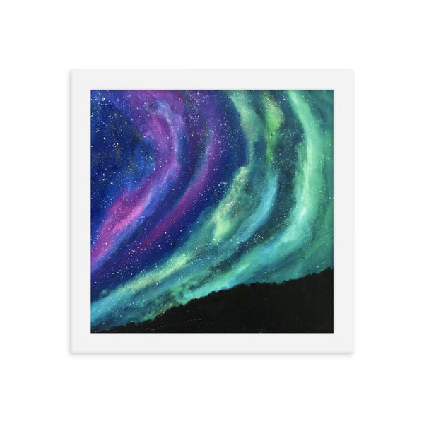 Aurora Northern Lights Framed Art Print