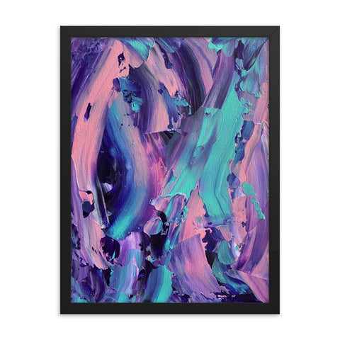 Bi-Pride LGBTQ Framed Abstract Art Print
