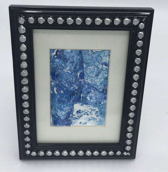 Blue Acrylic Painting Fluid Art collage