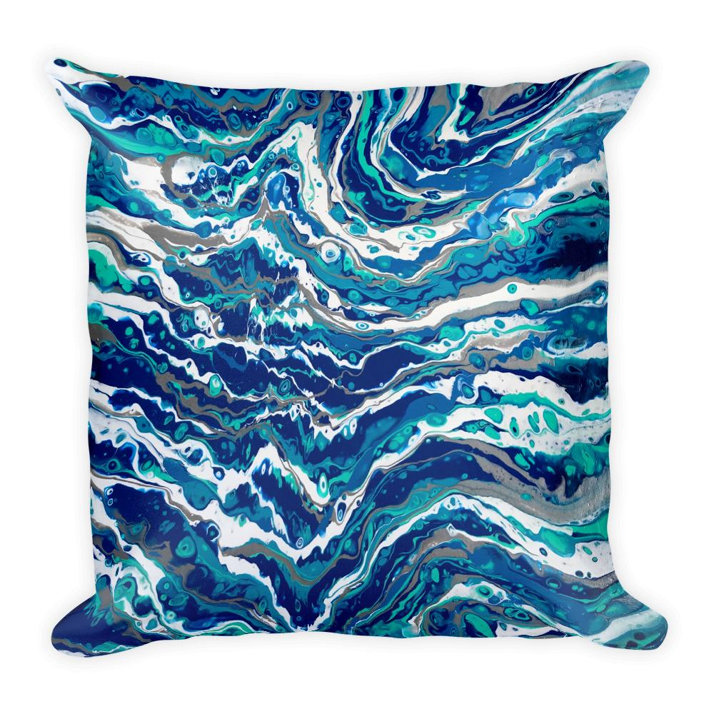 Blue Waves Decorative Throw Pillow