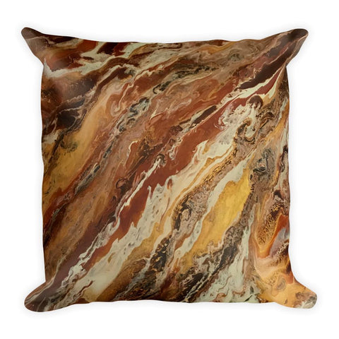 Brown & Beige Decorative Throw Pillow