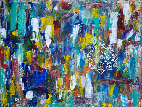 Colorful Abstract Acrylic Painting, Political Art