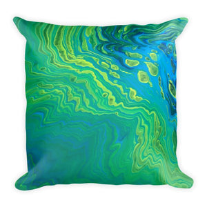 Decorative Throw Pillow, Print of Fluid painting acrylic pour
