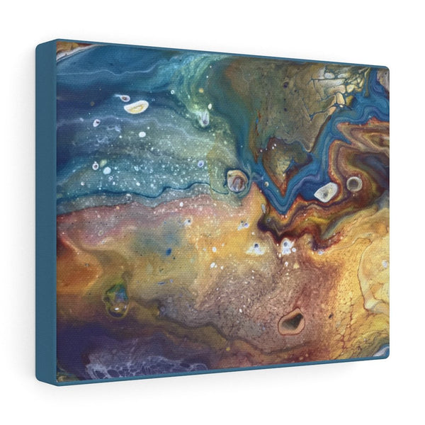 Earthy Fluid Art Print on Canvas