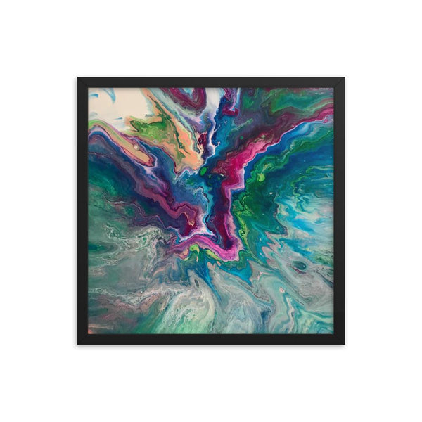 Fluid Art Framed Art Print Poster, Abstract Art