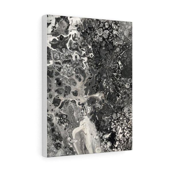 Fluid Art Canvas Print in Black and White