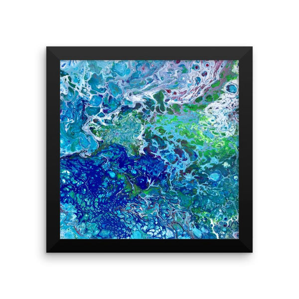 Fluid Art Print of Abstract Ocean