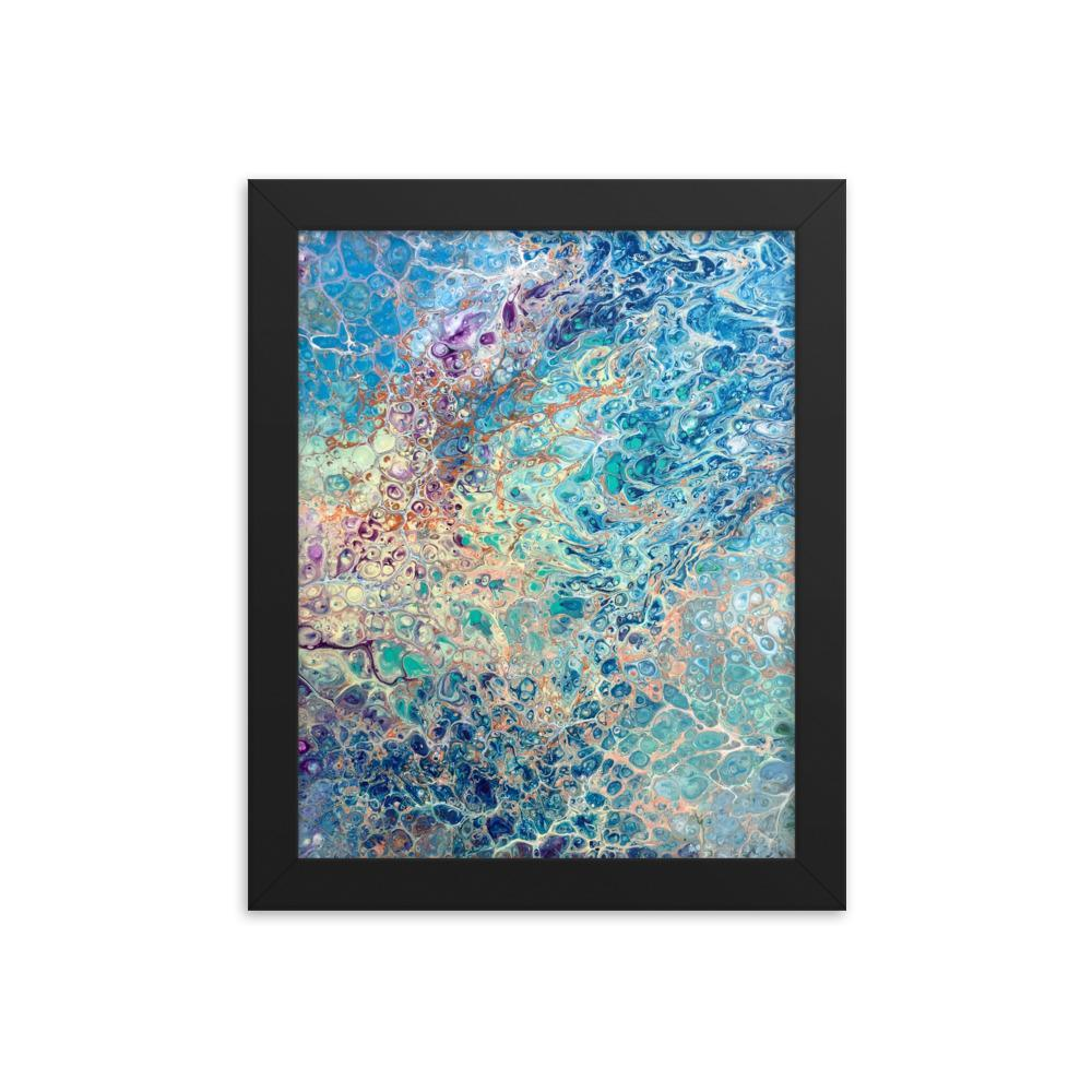 Fluid Art Print of Abstract Coral Reef in Ocean