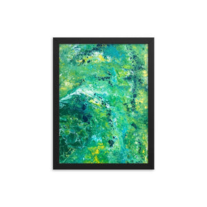 Fluid painting art print framed poster of acrylic pour