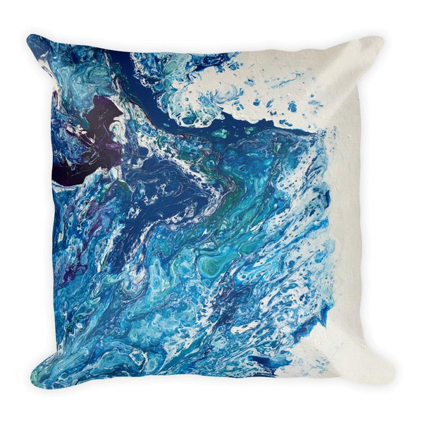 Frothing, Fluid Art Square Pillow