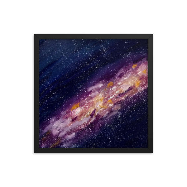 Galaxy Space Art Print Framed Poster