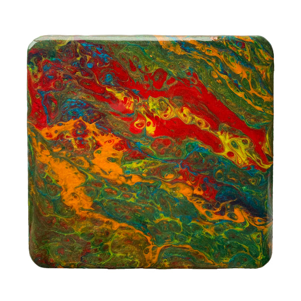Colorful Green Coasters - Set of 3