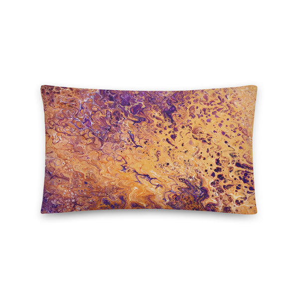 Orange and Purple Pillow, Throw Pillow for Sofa / Chair