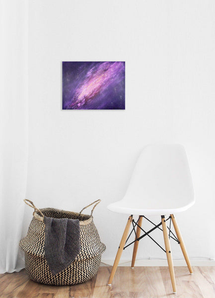 Galaxy and Stars in Space Large Original Oil Painting