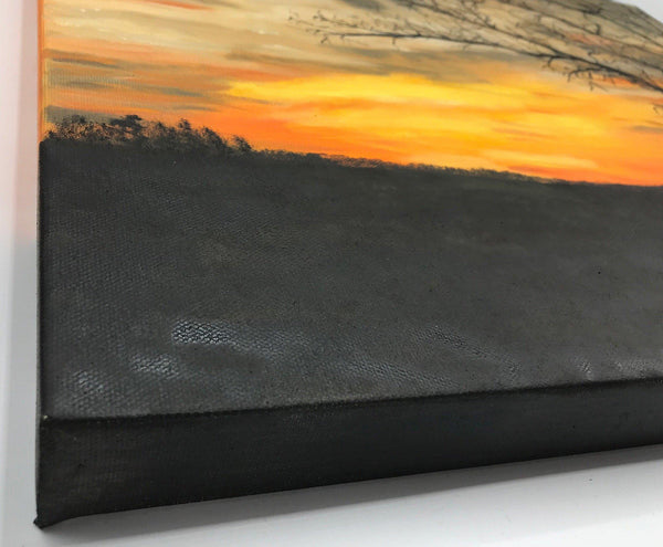 Original Oil Painting of Sunset in Pacific MO