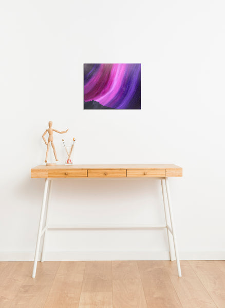 Purple Aurora Original Acrylic Painting