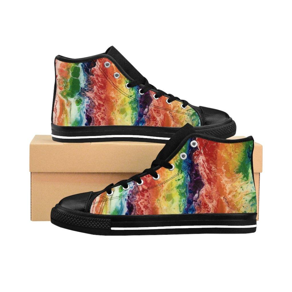 Rainbow Colors Men's High-top Sneakers Runners, LGBTQ Shoes