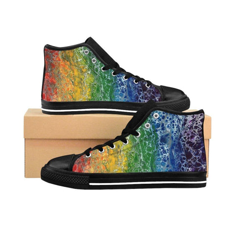 Rainbow Flag Women's High-top Sneakers Runners, LGBTQ Shoes