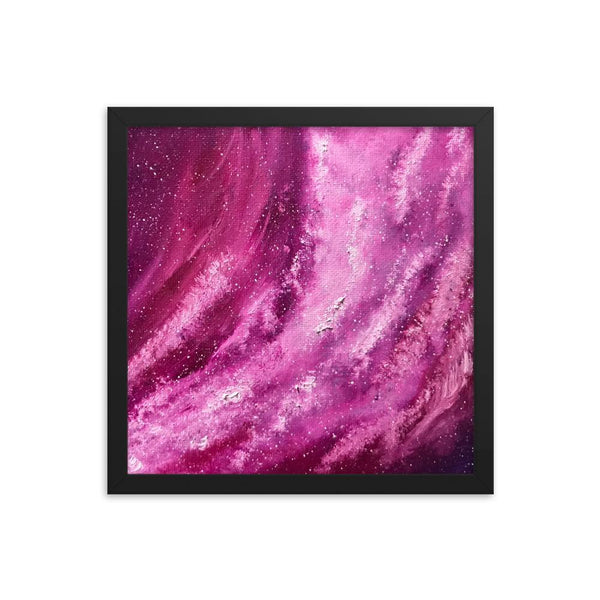 Space Art Print, framed poster of outerspace galaxy stars, fantasy art