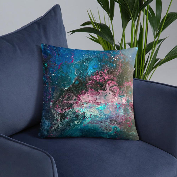 Space Pillow, Cosmos nebula galaxy outer space, decorative pillow