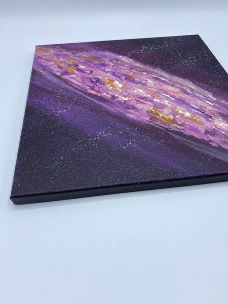 Stars and galaxies original acrylic painting
