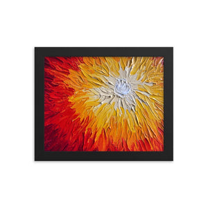 Sun Painting Enhanced Matte Framed Art Print Poster