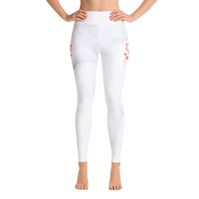 You Can Just Start White Yoga Leggings