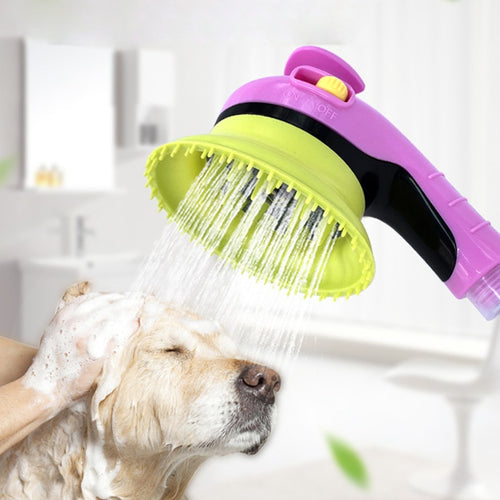 Pet Sprayer Puppy Dogs Cats Wash Grooming Bathing Massage Brush Handheld Shower 5 Color Drop Shipping