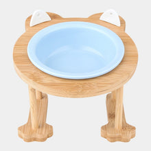 Load image into Gallery viewer, Ceramics Single And Double Food Bowl For Eating And Drinking With Wooden Frame