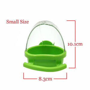 CAITEC Bird Spill Proof Feed Box Parrot Food Container Bite Resistant Spill-proof Bird Food Box Less Waste Feeding
