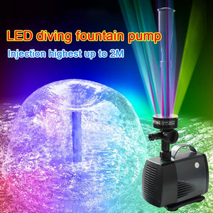 LED Flashing Light Submersible Fountain Water Pump