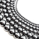 gray hematite smooth round beads