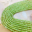 natural green apatite faceted rondelle beads