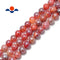 coated fire agate smooth round beads