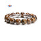 Natural Bronzite Smooth Round Elastic Bracelet Beads Size 12mm 7.5'' Length