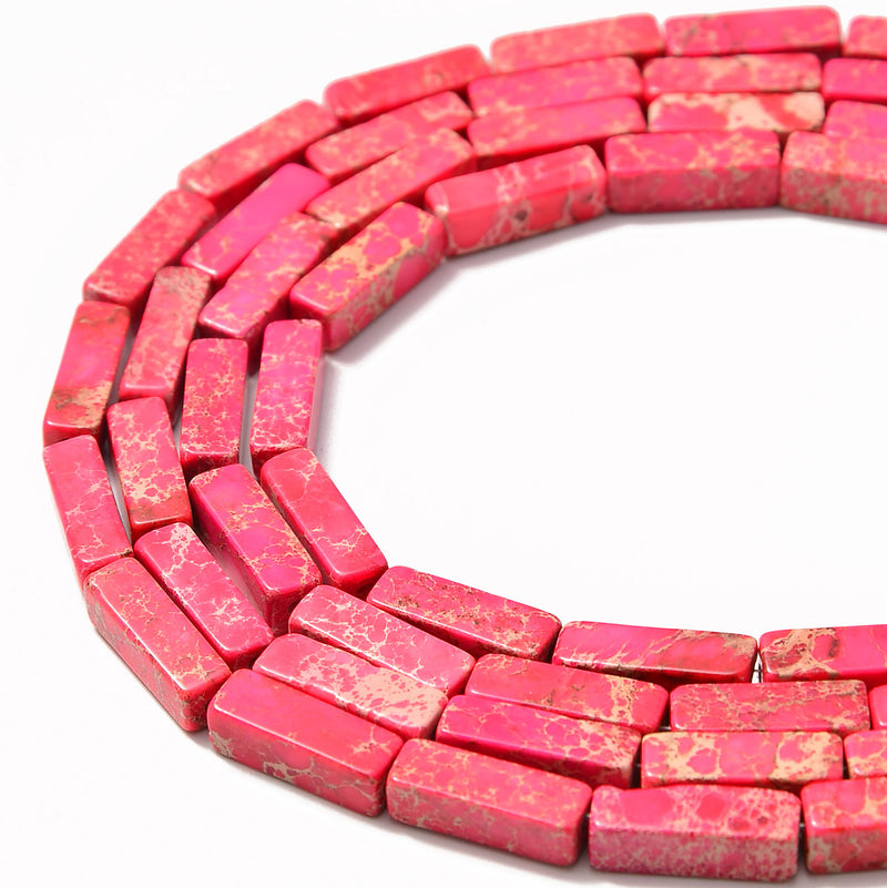 red sea sediment jasper rectangle tube beads