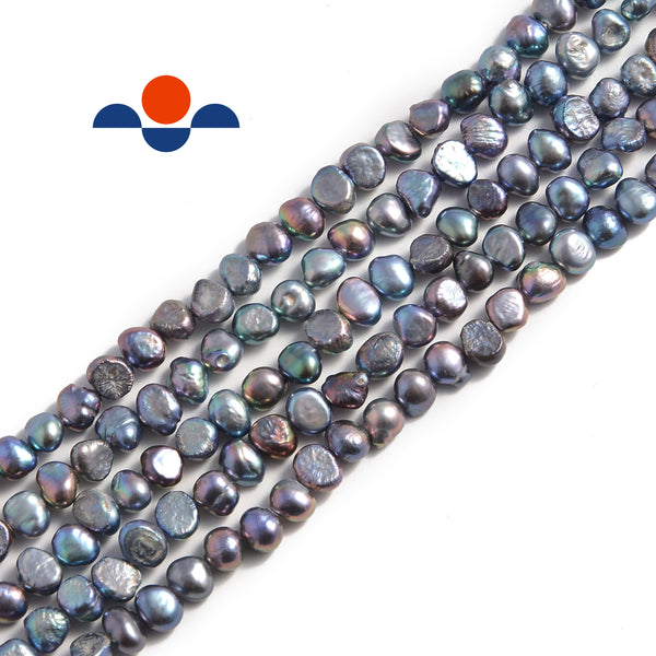 peacock fresh water pearl center drill nugget beads