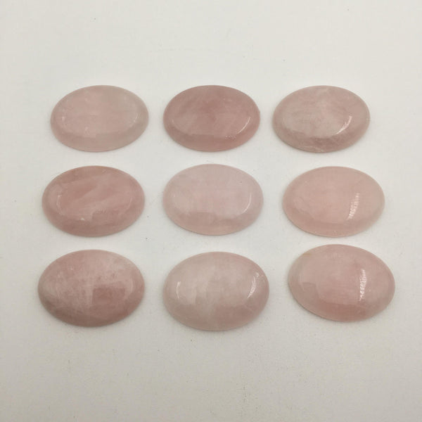 natural rose quartz cabochon smooth oval