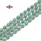 Natural Green Amazonite Hard Cut Faceted Off Round Beads Size 8mm 15.5'' Strand