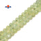 "Prehnite Faceted Round Lantern Beads Size 10mm 15.5"" Strand"