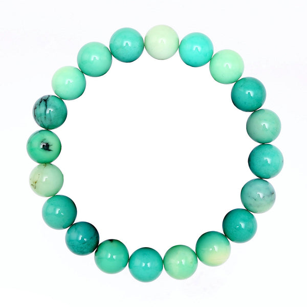 chrysoprase bracelet smooth round