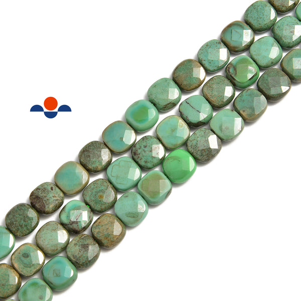 chrysaprase faceted square beads