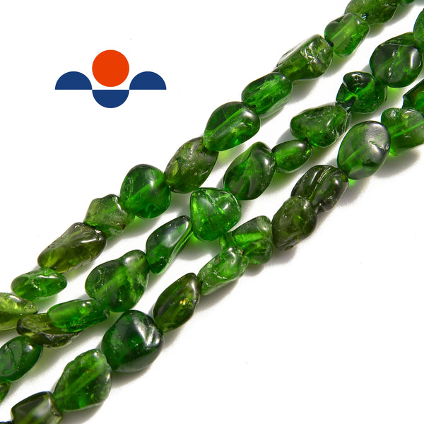 natural diopside side drill pebble nugget chips beads