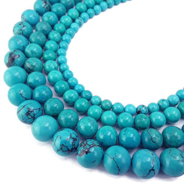 blue green turquoise smooth round beads