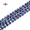 Lapis Lazuli Hard Cut Faceted Off Round Beads Size 9x10mm 15.5'' Strand