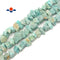 "Green Amazonite Rough Nugget Chunks Center Drill Beads Approx 9x19mm 15.5""Strand"